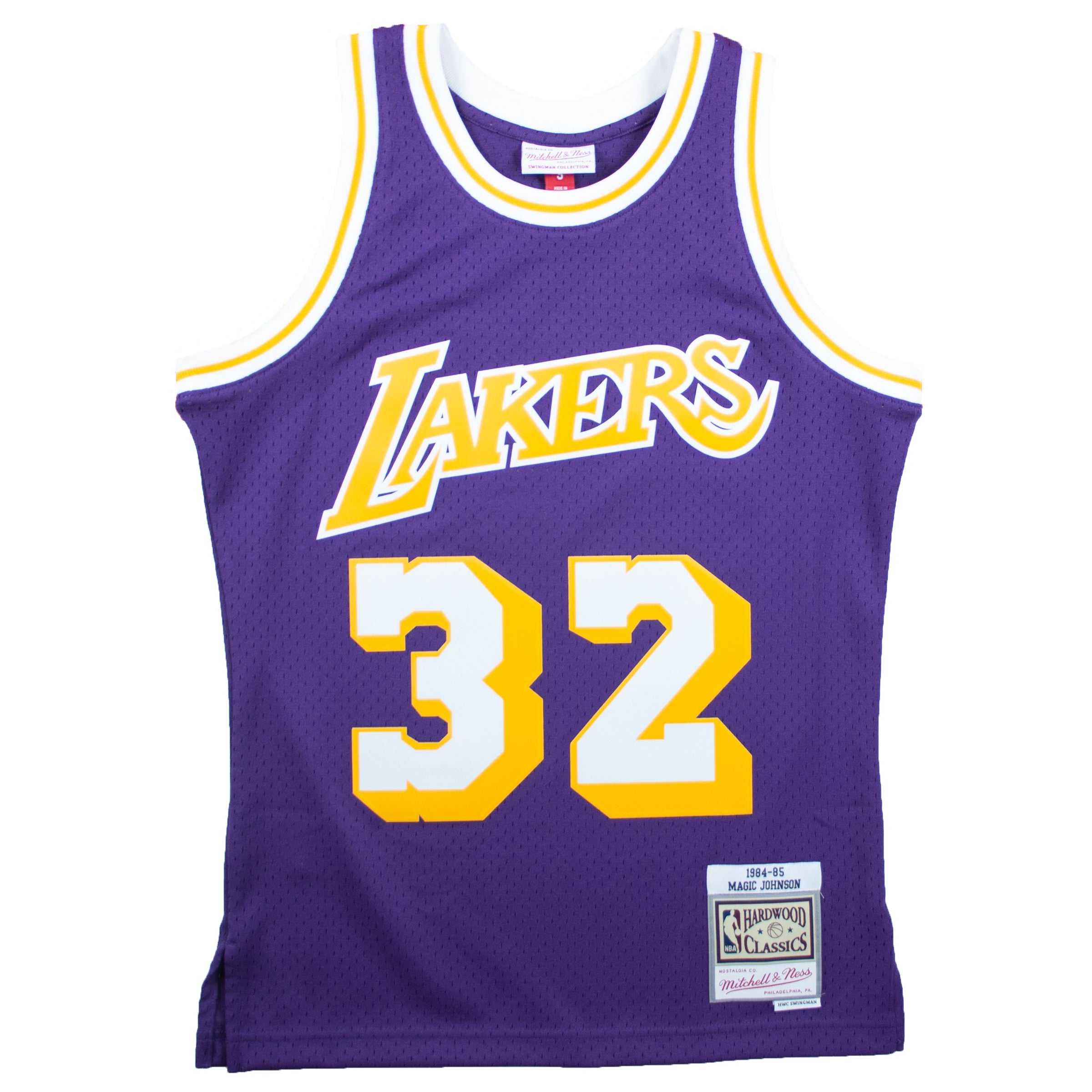 51e95eba5f6 Mitchell & Ness NBA Swingman 84-85 Los Angeles Lakers Magic Johnson ...