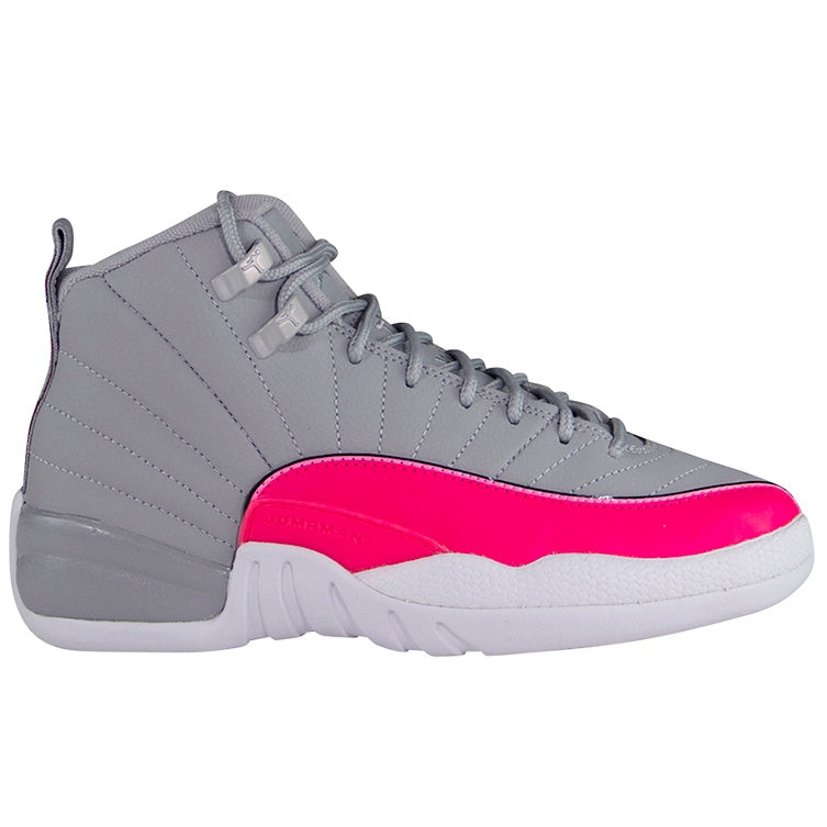 Air Jordan Retro 12 Grey Pink 'Racer Pink' (GS)