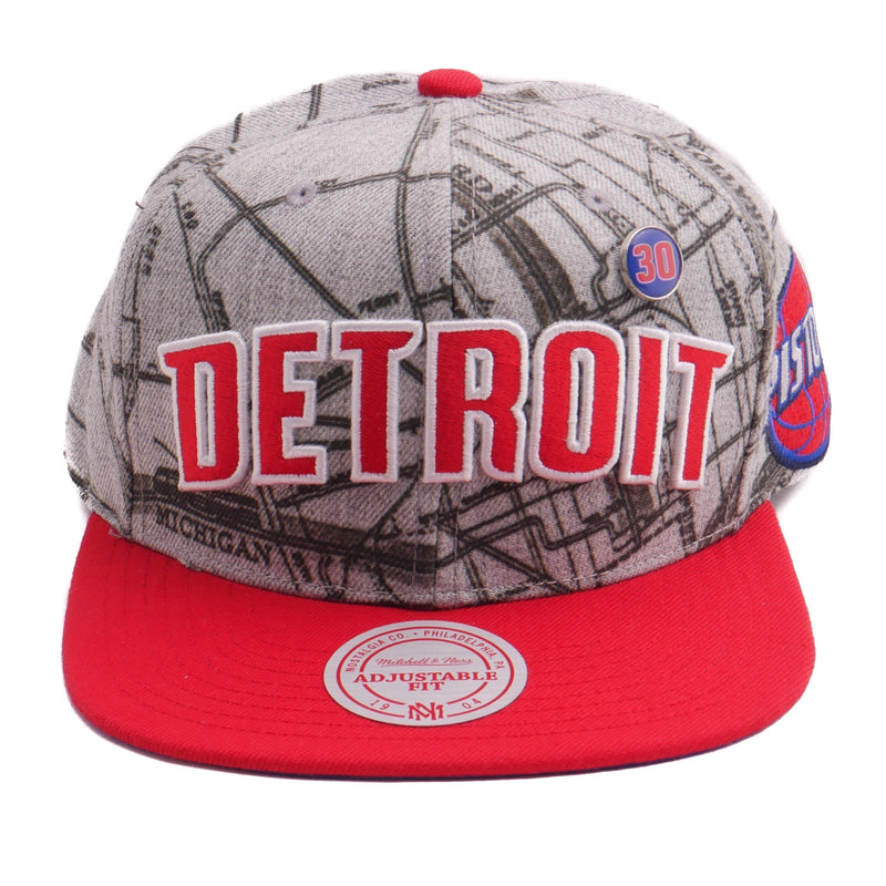 Mitchell & Ness Detroit Map WWW Snapback