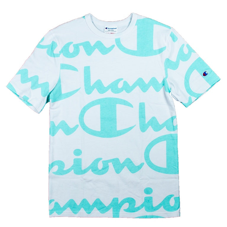 Champion Heritage Giant Script White/Mint T-Shirt