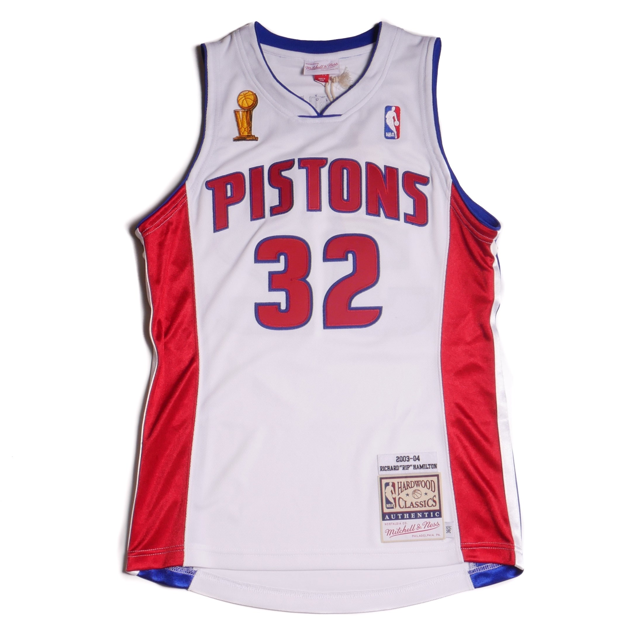 info for f1547 52375 Mitchell & Ness Authentic Detroit Pistons Jersey 03-04 Finals Hamilton