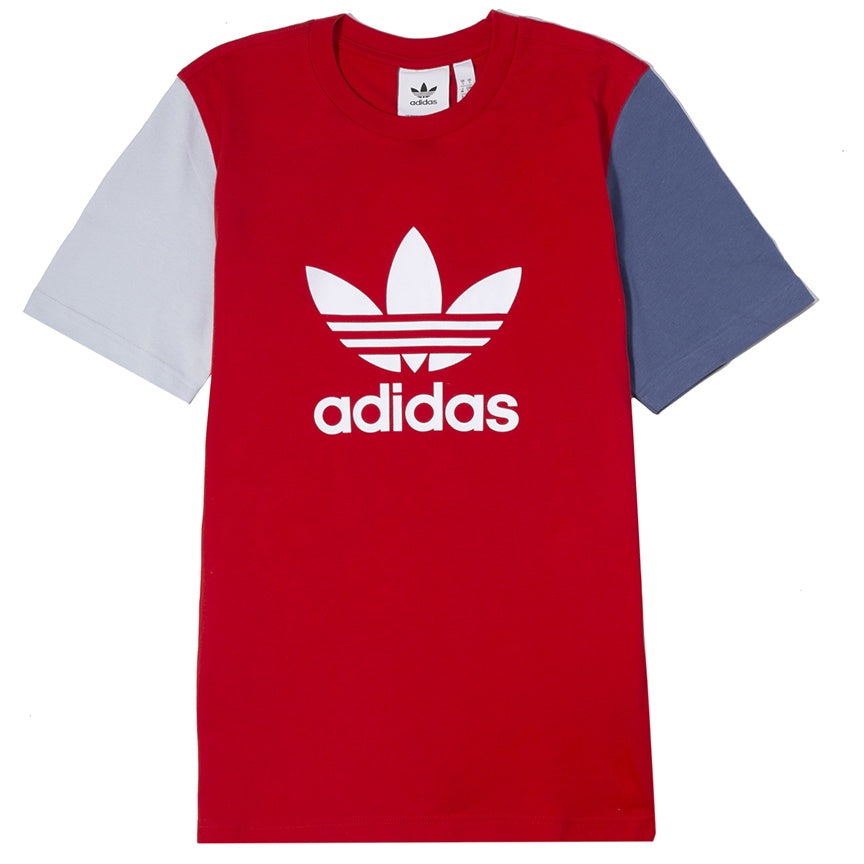 Adidas Trefoil Color Block T-Shirt 'Red Blue'