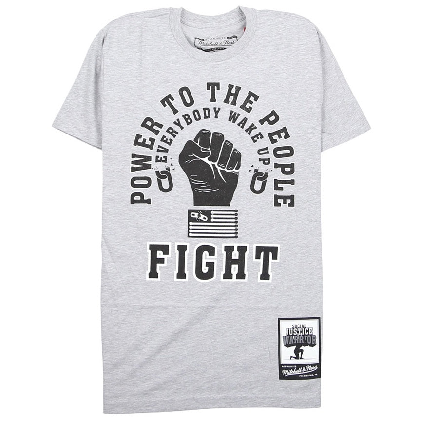 Mitchell & Ness 'Power To The People' Fight T-Shirt