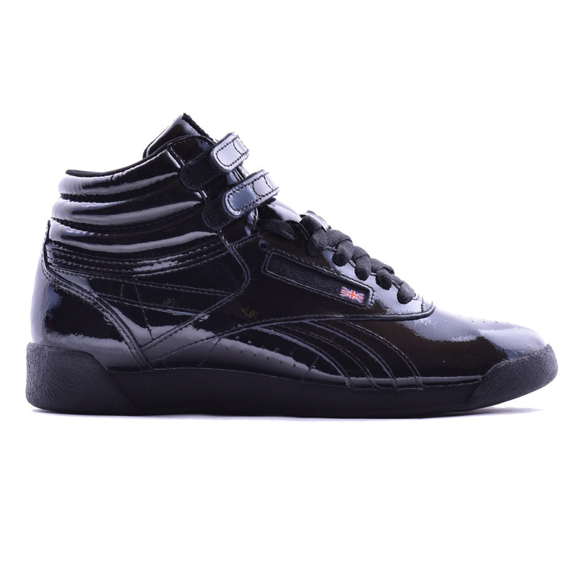 Reebok Freestyle Hi Black Patent Leather