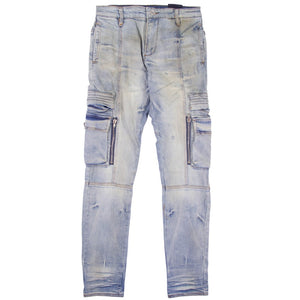 Embellish Windler Cargo Blue Denim Jean
