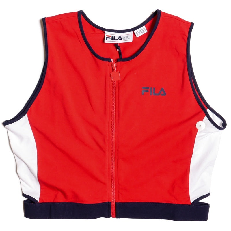 Fila Women's Tally Zip Crop Tank