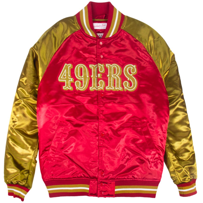 Mitchell & Ness NFL Tough Season Satin Jacket San Francisco 49ers