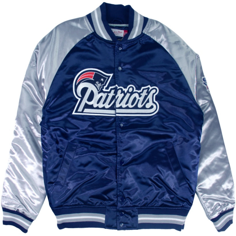 Mitchell & Ness NFL Tough Season Satin Jacket New England Patriots