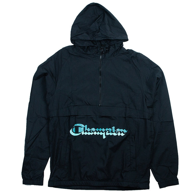 Champion Black Manorak Windbreaker