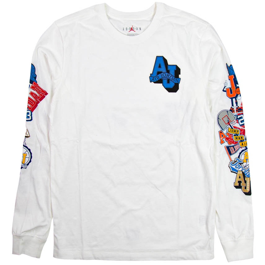 Air Jordan Varsity Long-Sleeve White T-Shirt