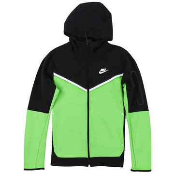 Nike Sportswear Tech Fleece Full-Zip Green/Black Hoodie
