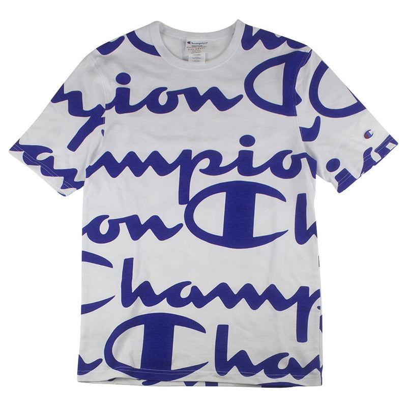 Champion Heritage T-Shirt Giant CHP Script White/Royal