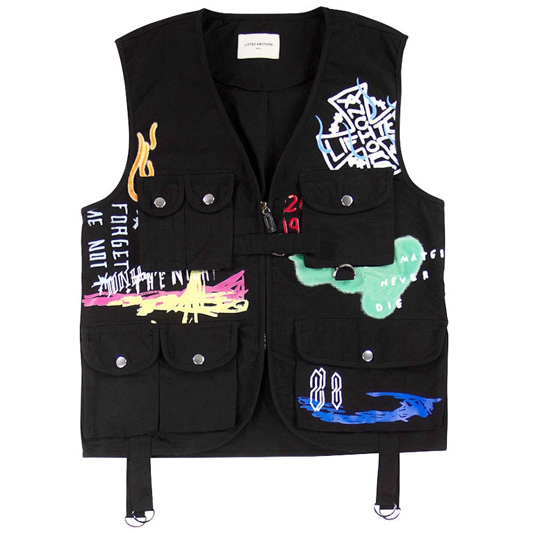 Lifted Anchors Black Santana Vest