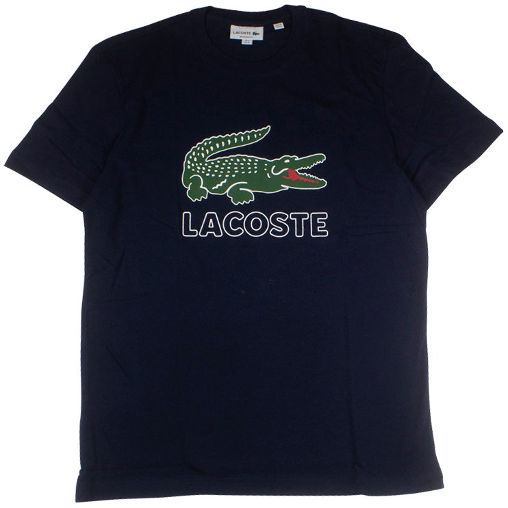 Lacoste Navy Graphic Croc T-Shirt