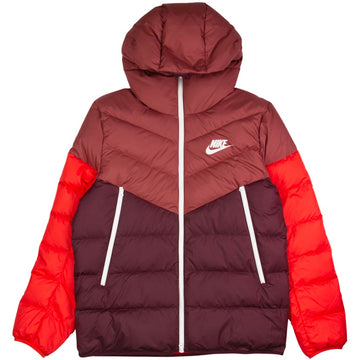 Nike Sportswear Windrunner Maroon Down Fill Jacket