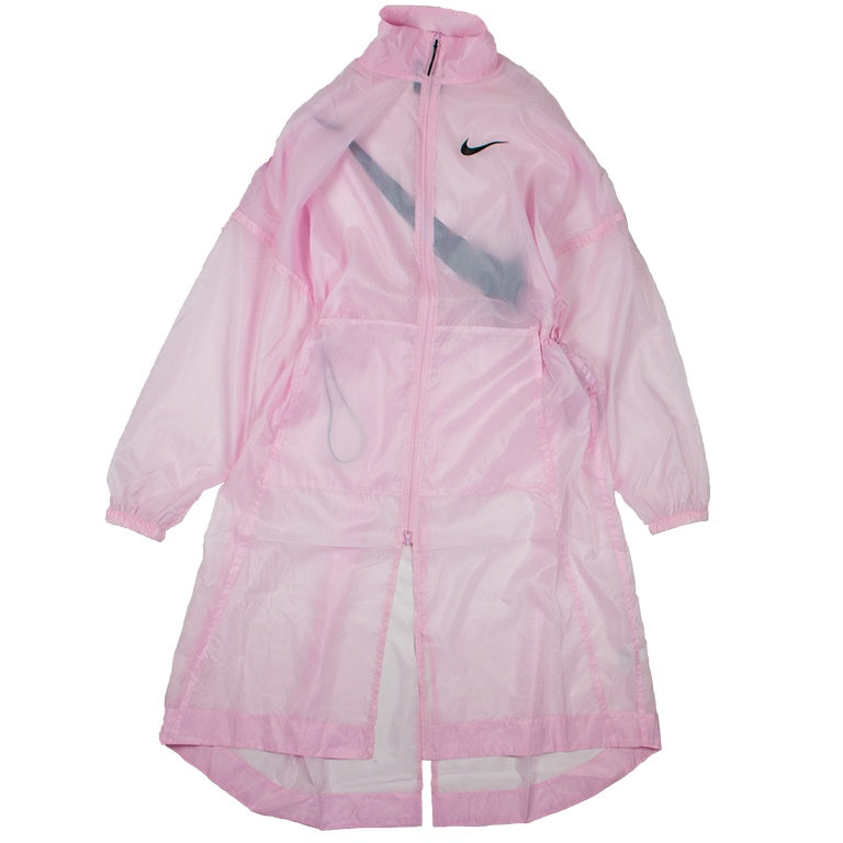 Nike Women's NSW Swoosh Pink Long Woven Jacket