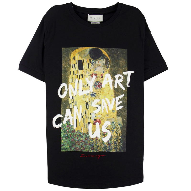 Inimigo 'Only Art Can Save Us' Black T-Shirt