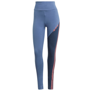 Adidas Adicolor Sliced Trefoil High-Wasited Blue Leggings