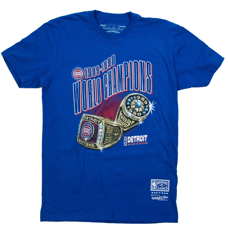 Mitchell & Ness Detroit Pistons Rings T-Shirt