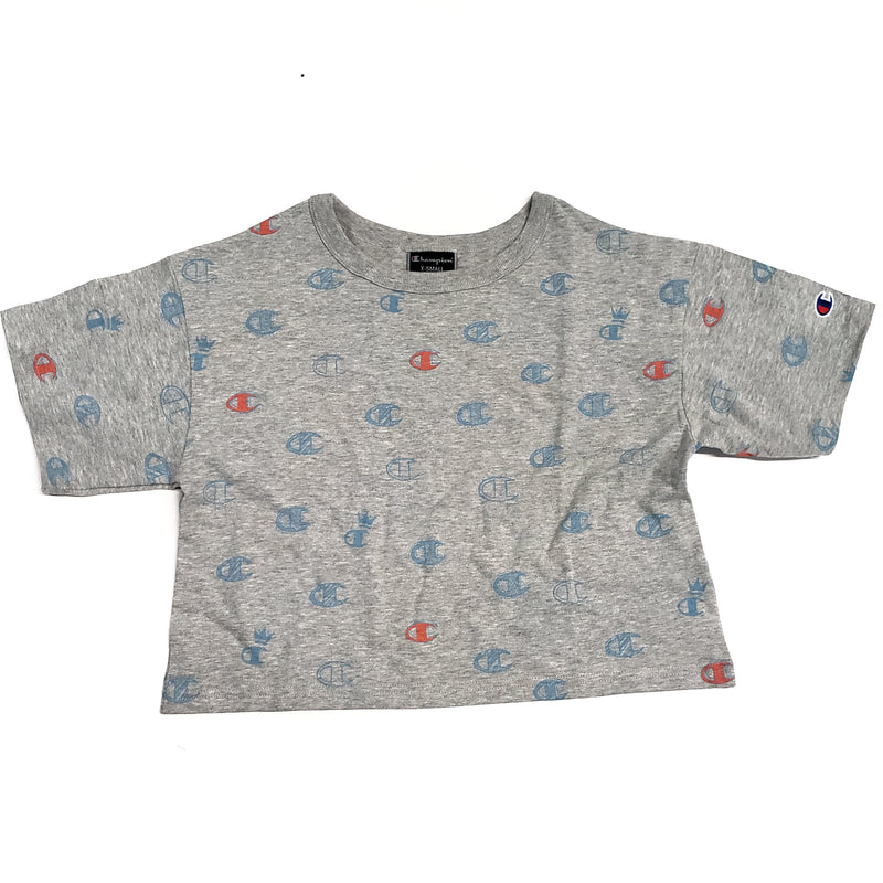 Champion Grey Crop T-Shirt C's All Over