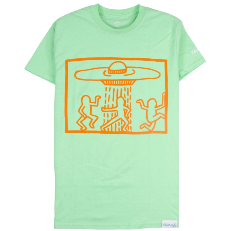 Diamond Supply x Keith Haring Space Ships T-Shirt