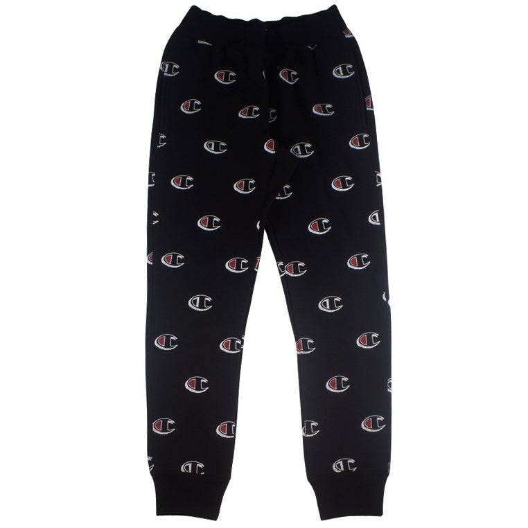 Champion Reverse Weave All Over Print Black Jogger