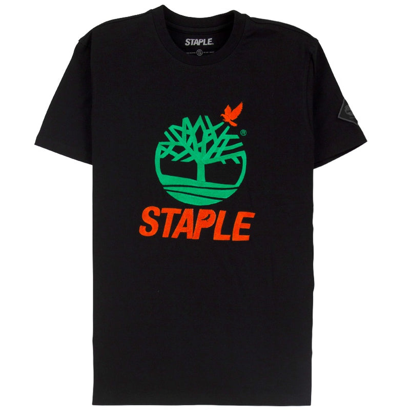 Staple x Timberland Black Logo T-Shirt