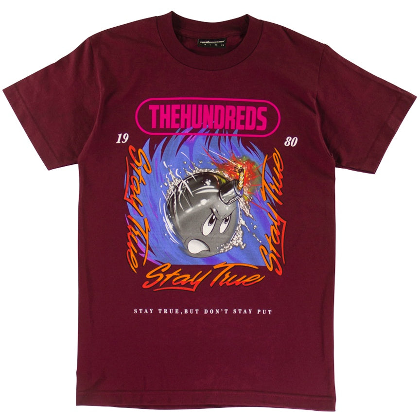 The Hundreds Speed Adam Burgundy T-Shirt