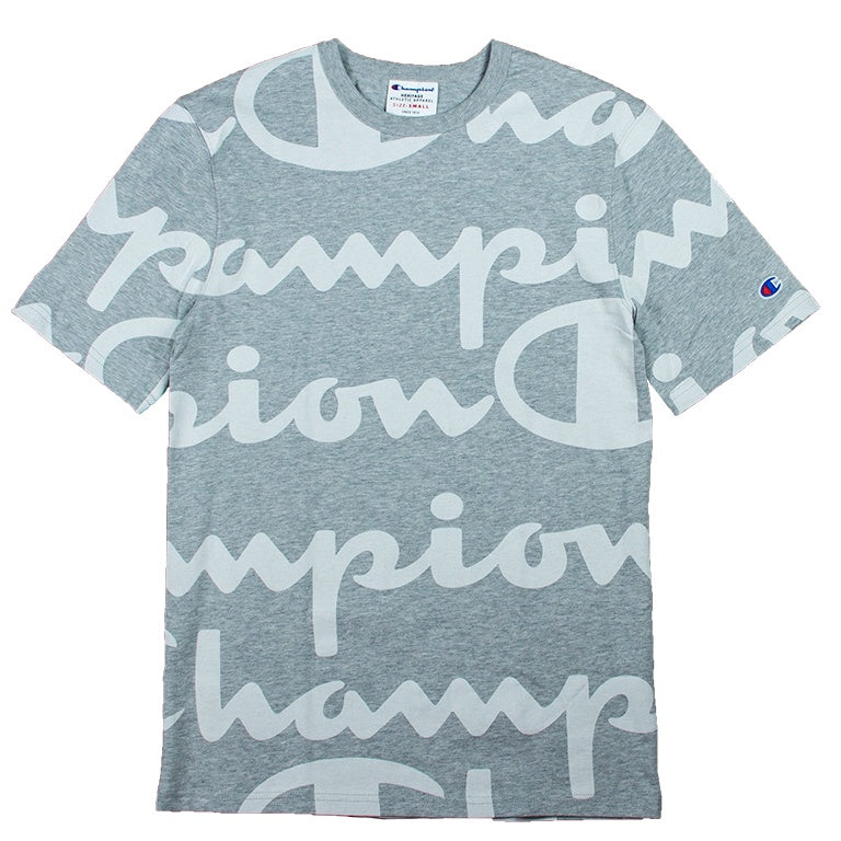 Champion Heritage Giant Script Grey T-Shirt