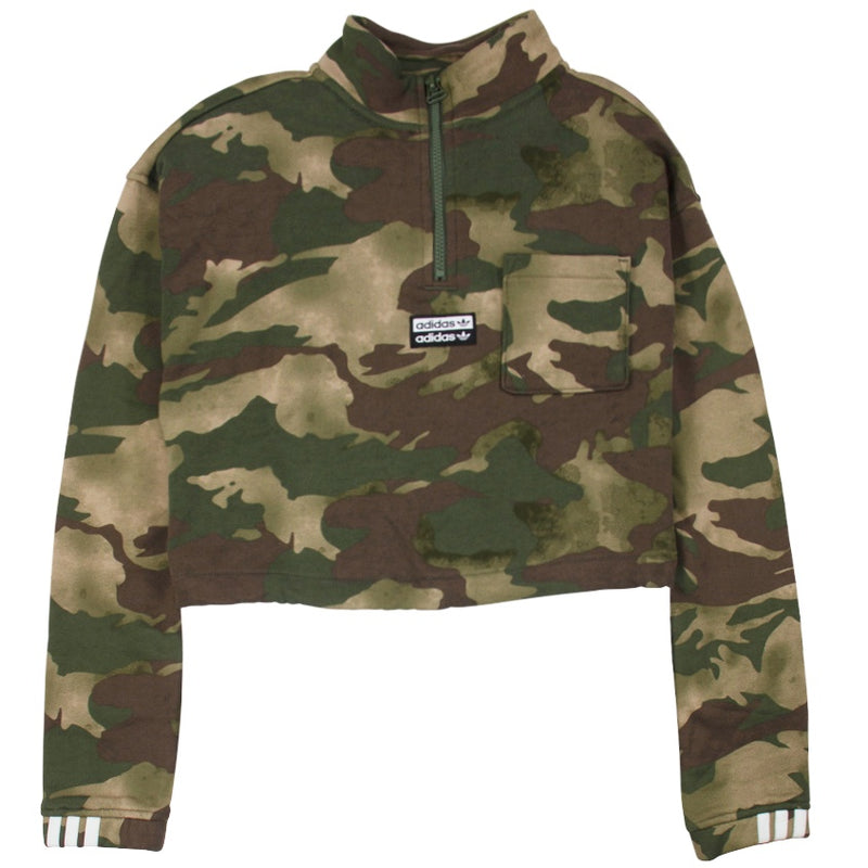 Adidas Originals Women's Half-Zip Camo Sweater