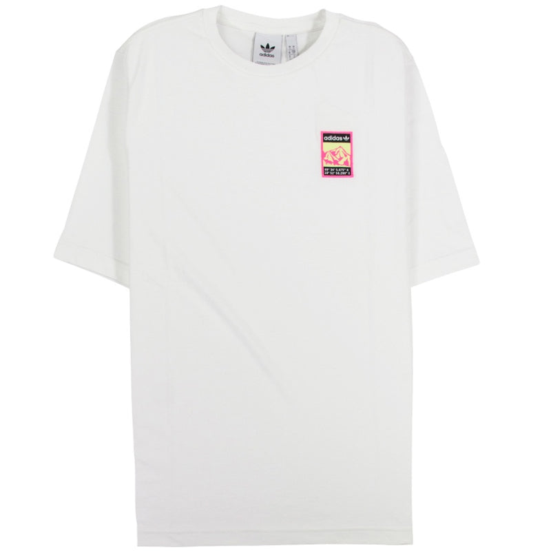 Adidas Originals White Graphic T-Shirt