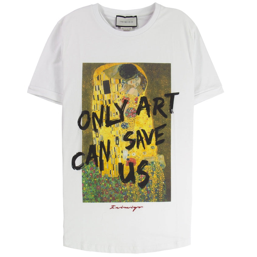 Inimigo 'Only Art Can Save Us' White T-Shirt
