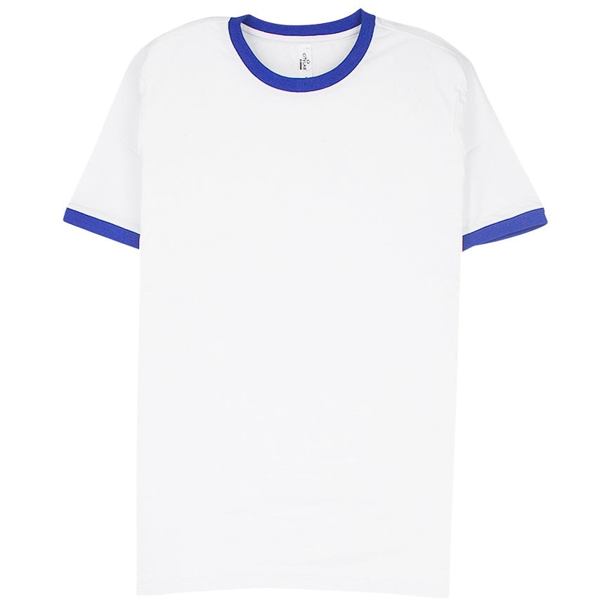 City Lab Ringer White/Royal T-Shirt