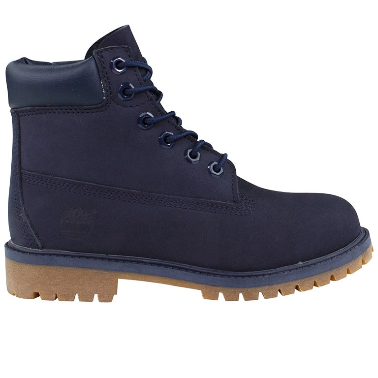 Timberland Kids 6-inch Premium Navy Blue Boots