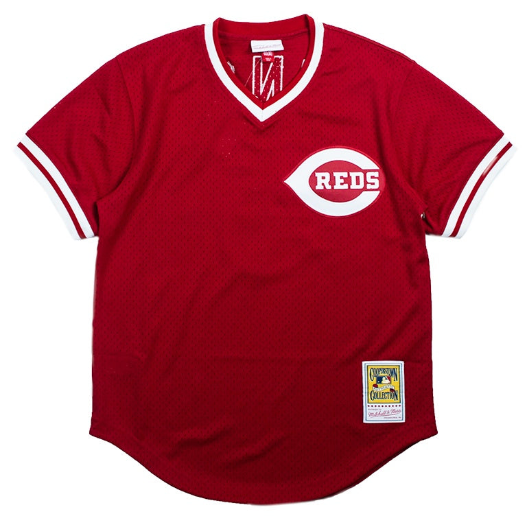 Mitchell & Ness Mesh BP Jersey Cincinnati Reds Johnny Bench