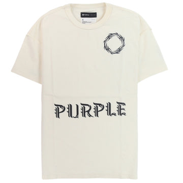 Purple Brand Relaxed Fit Wreath White T-Shirt