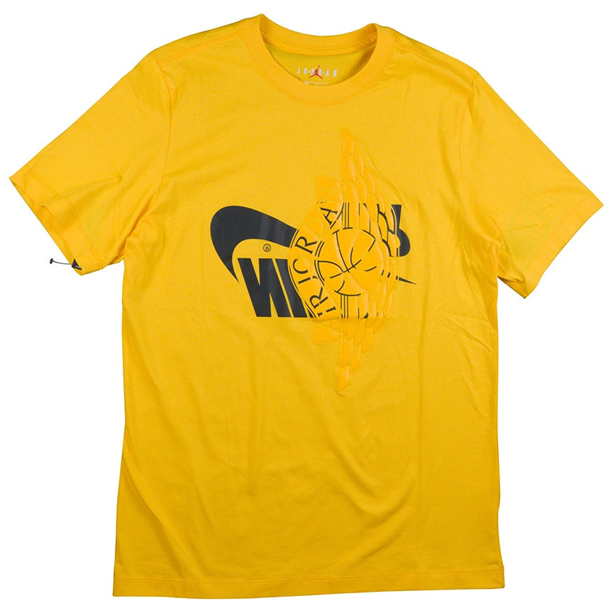 Air Jordan Yellow Futura Wings T-Shirt