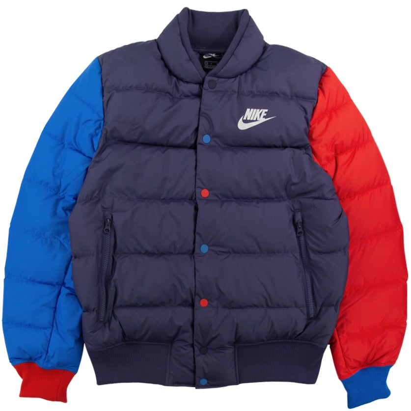 Nike NSW Down Fill Blue Bomber Jacket