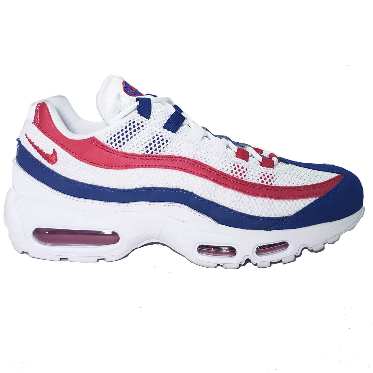5ef794975c Nike Air Max 95 White/Red/Blue – Puffer Reds