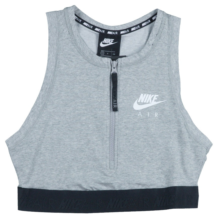 1debaf4ab Nike Air Women's Half-Zip Grey Crop Top – Puffer Reds