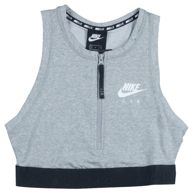 Nike Air Women's Half-Zip Grey Crop Top