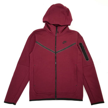 Nike Sportswear Tech Fleece Full Zip Burgundy Hoodie