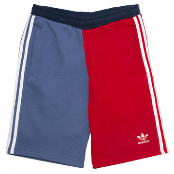 Adidas 3-Stripe Color Block Shorts 'Red Blue'