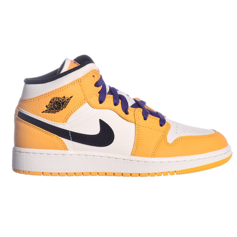 Air Jordan 1 Mid SE 'Lakers' (GS)