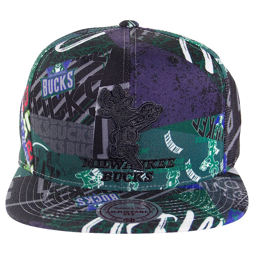 Mitchell & Ness Milwaukee Bucks Paysage Snapback
