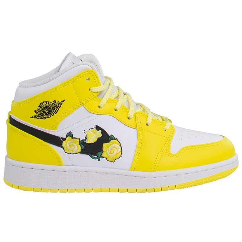 Air Jordan 1 Mid SE (GS) 'Dynamic Yellow'