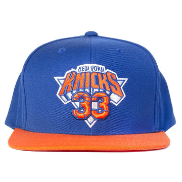 Mitchell & Ness Number Lock Snapback 'Knicks'