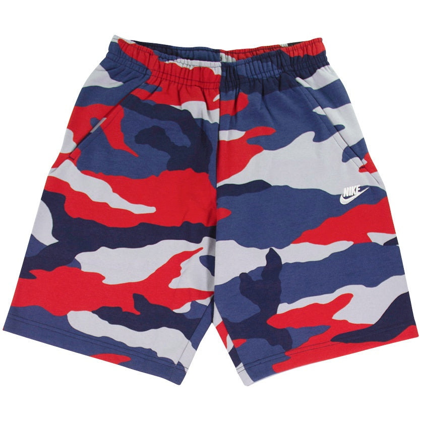 Nike Sportswear Club Fleece Navy Camo Shorts