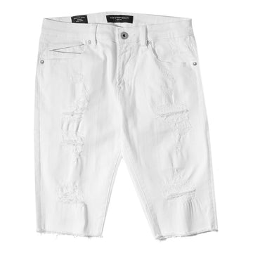 Cult Of Individuality Rocker Stretch White Shorts