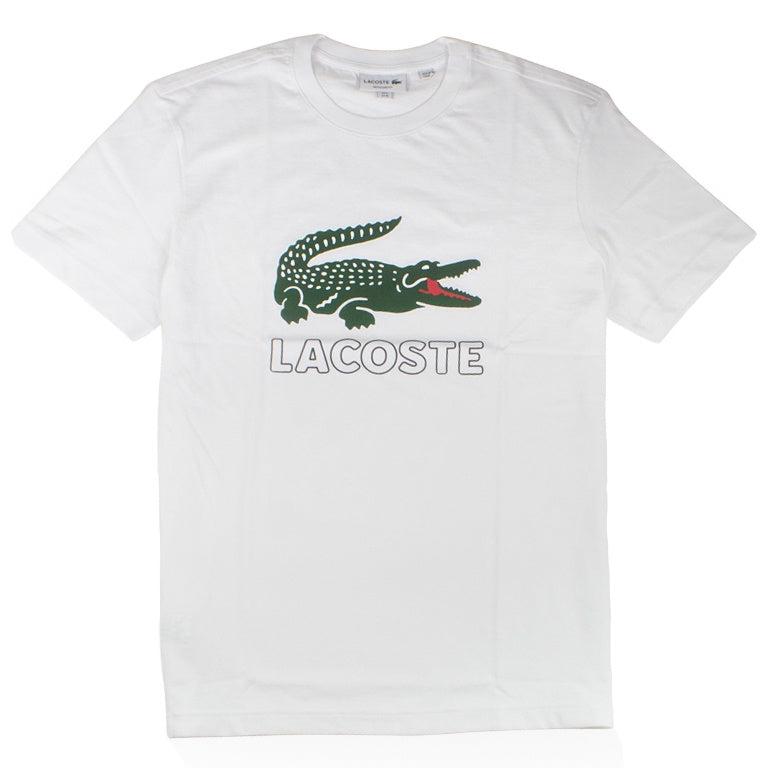 Lacoste White Graphic Croc T-Shirt